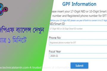 GPF Fund Balance Check