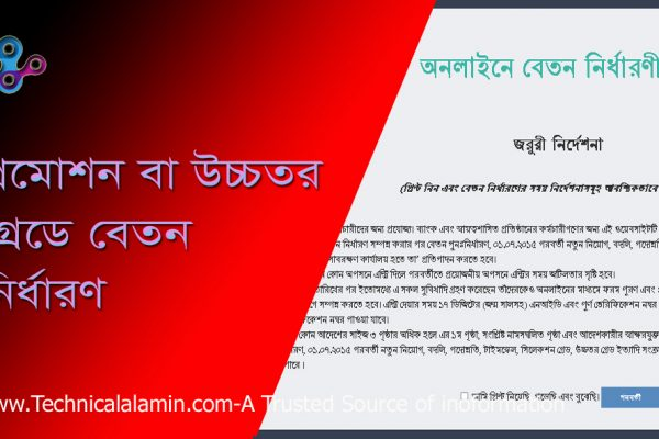 Pay Fixation পে ফিক্সেশন ২০২১